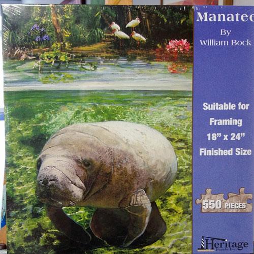 manatee puzzle by william bock